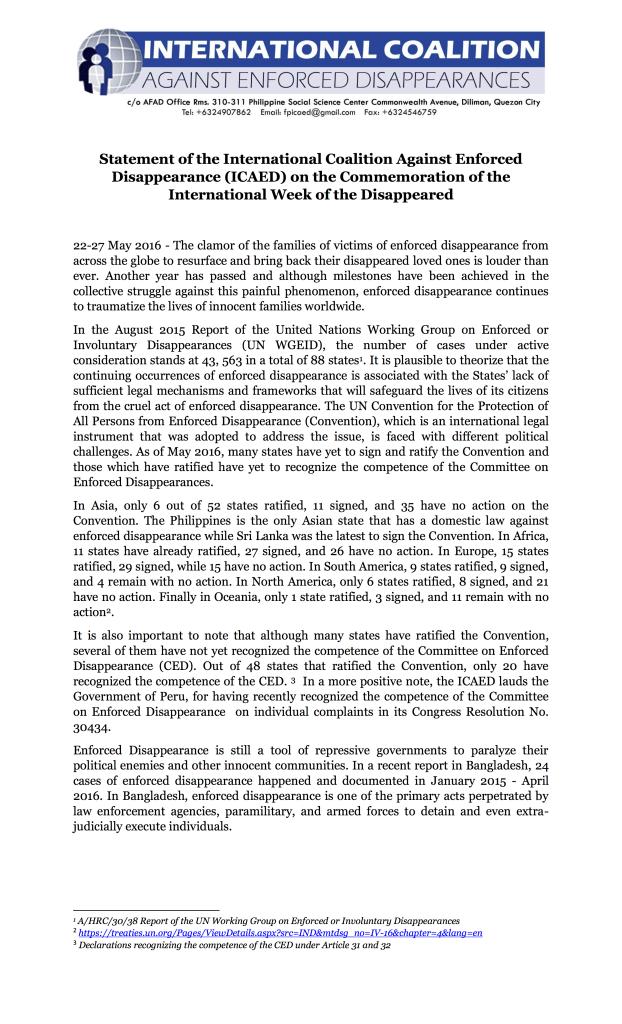 ICAED IWD Statement 2016-1